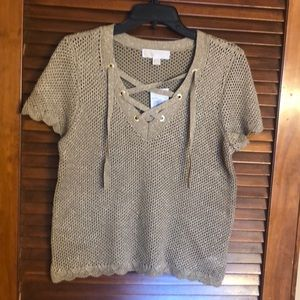 NEW Michael Kors Lace Up Sweater